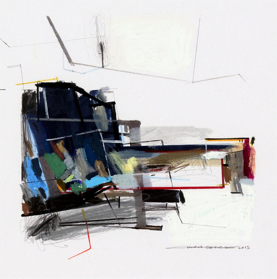 Serie 1 02, tecnica mista sobre mdf, 20,9 x 29,4 cm