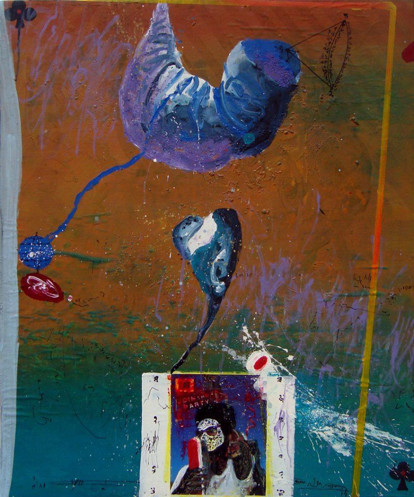 Ilidio Candja, Blind 2, tecnica mista sobre tela, 118 x 98 cm