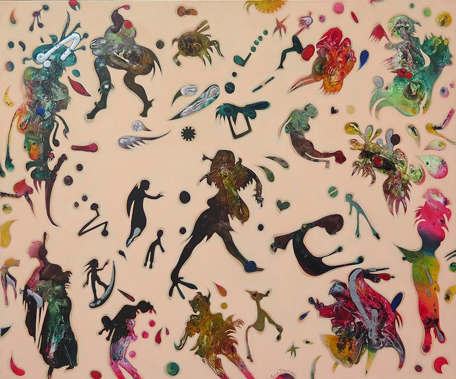 Comica-purpura-na-clareira-dos-verdes-100-x-120-cm-2009