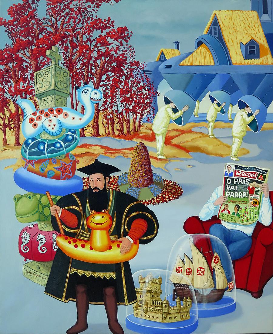 Vasco-da-Gama-não-sabe-nadar-yo-oleo-sobre-tela-110-x-90-cm-2005-copy