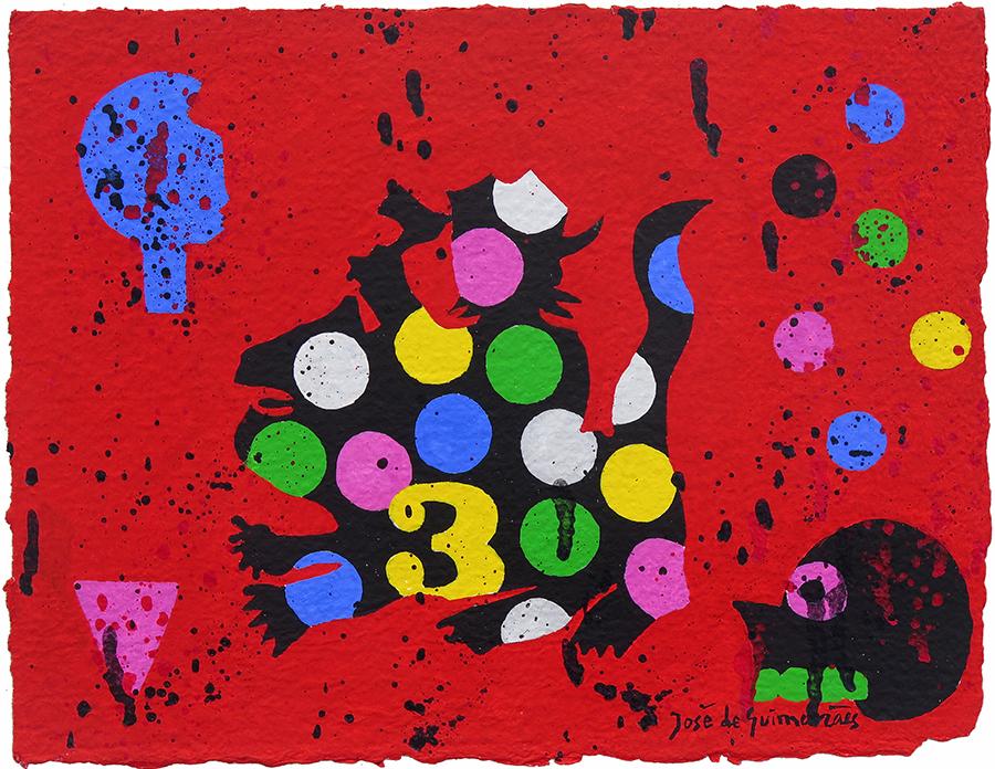 guache sobre papel marouflé, 26,5 x 34 cm