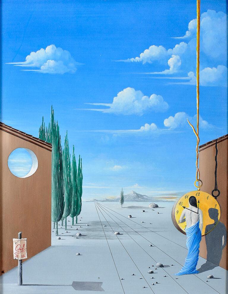 Timeless Solitude, tecnica mista sobre papel, 51 x 40 cm