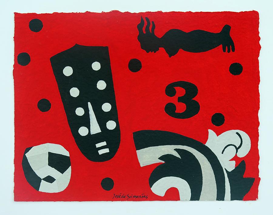 guache sobre pap maroufle, 26,5 x 34 cm