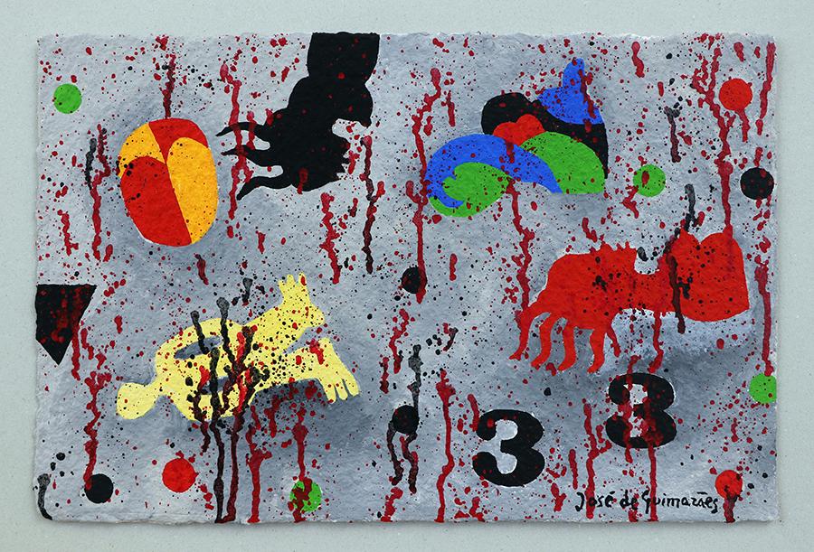 guache sobre papel maroufle, 36 x 50 cm