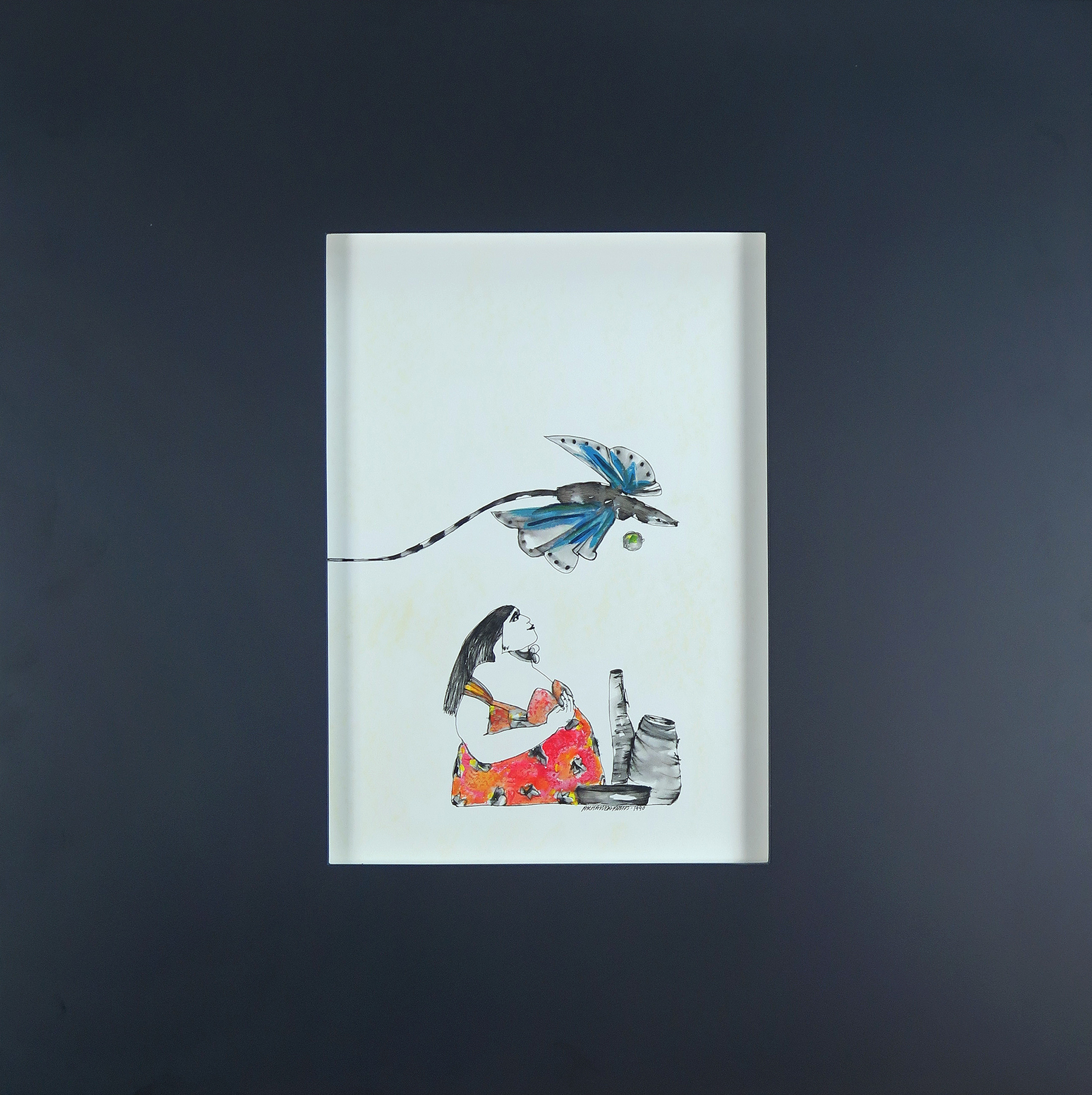 guache sobre papel, 40 x 30 cm, 1990