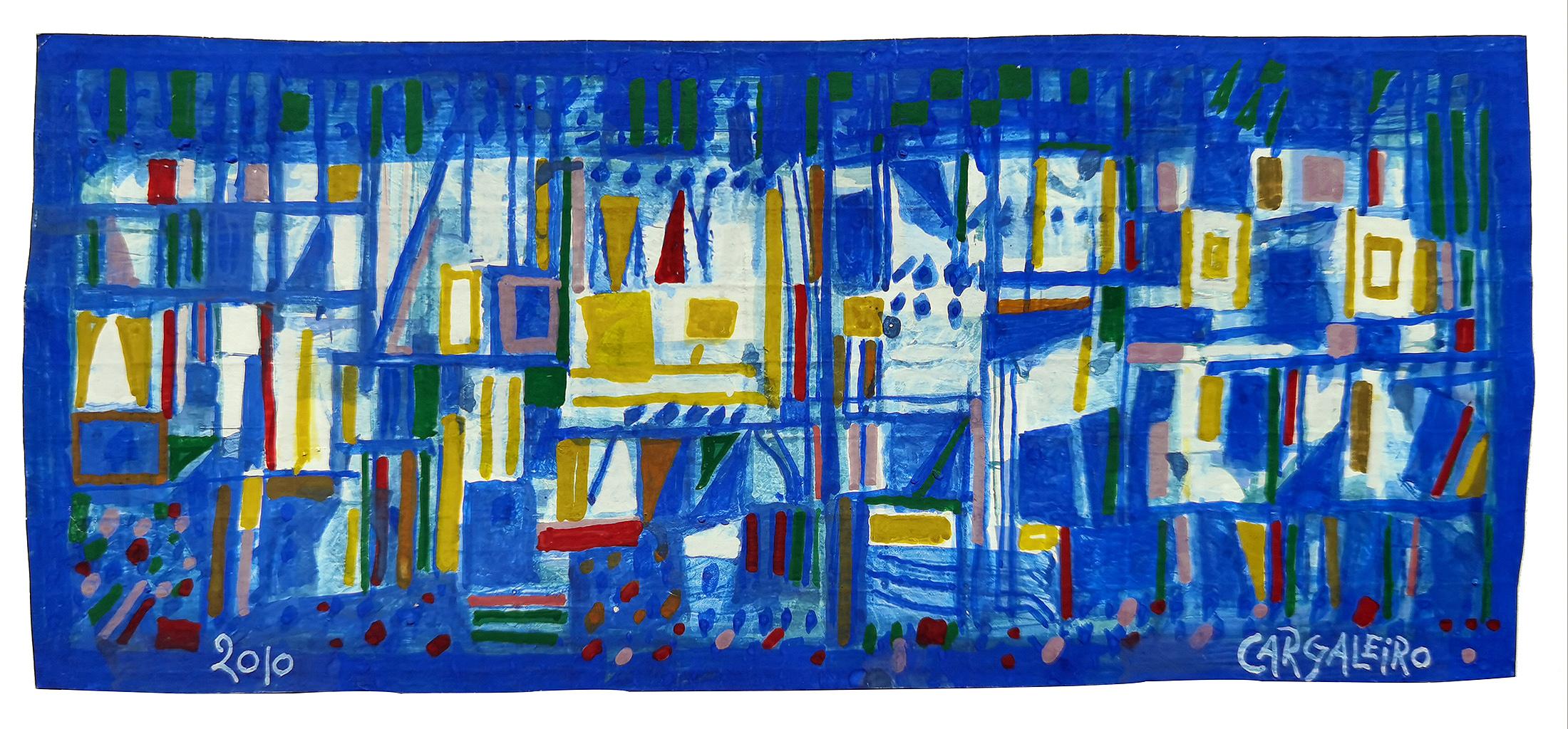 Composição,  guache sobre papel chiffon, 10,3 x 24 cm, 2010