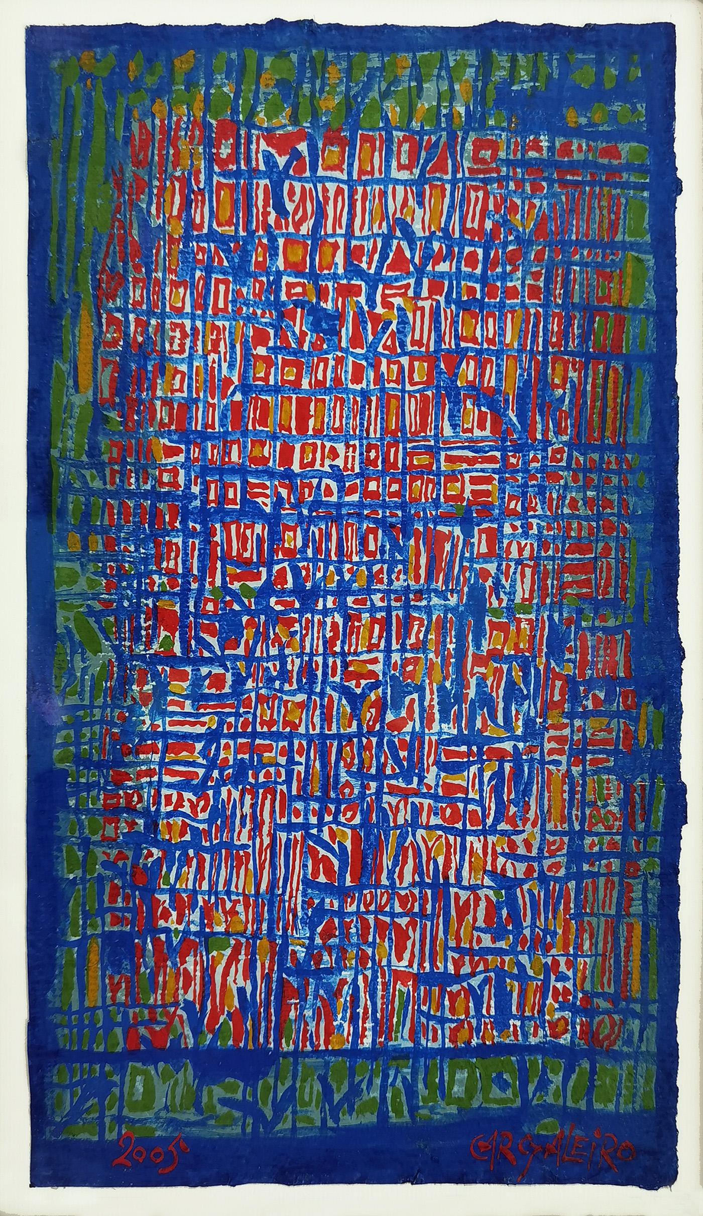 Composição,  guache sobre papel chiffon, 29,4 x 23,5 cm, 2009