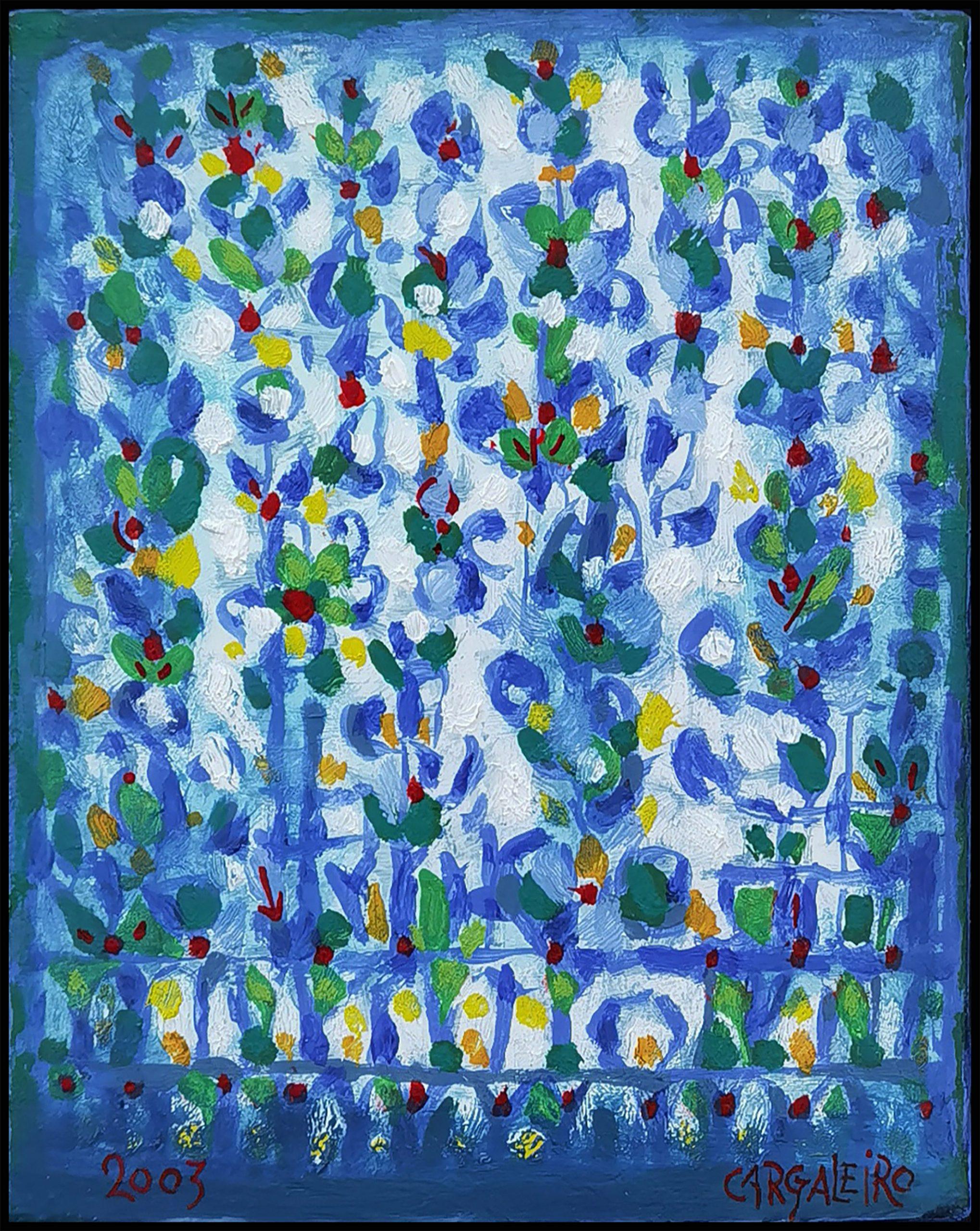 Les Fleurs des Grisons, óleo sobre tela, 24 x 19 cm, 2003