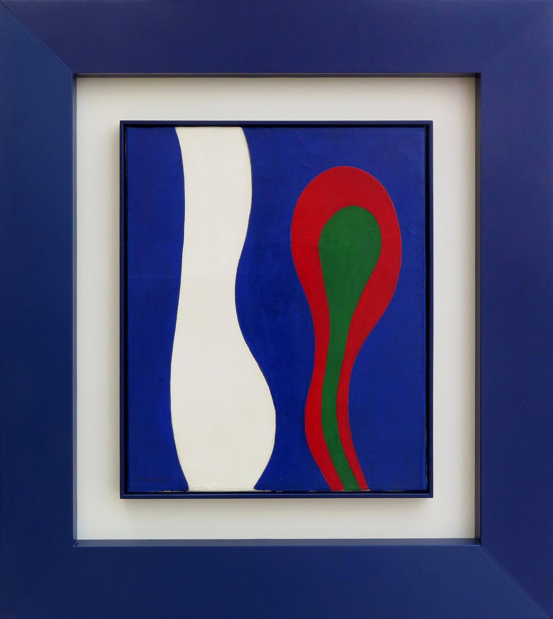 Perfil e Flor, óleo sobre tela, 46 x 38 cm,1966