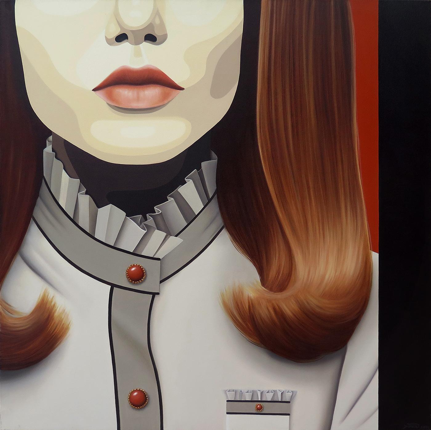 Retro Revival, óleo sobre tela, 80 x 80 cm