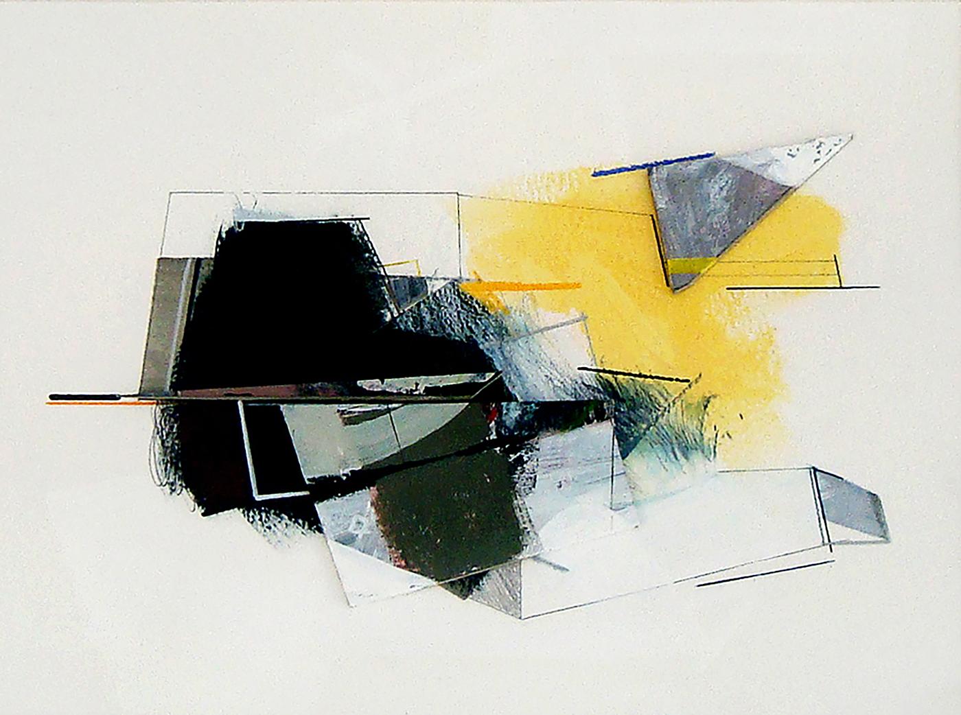 Rui Tavares e Susana Chasse – 1 + 1, acrílico, grafite e cartão sobre papel, 33 x 41 cm