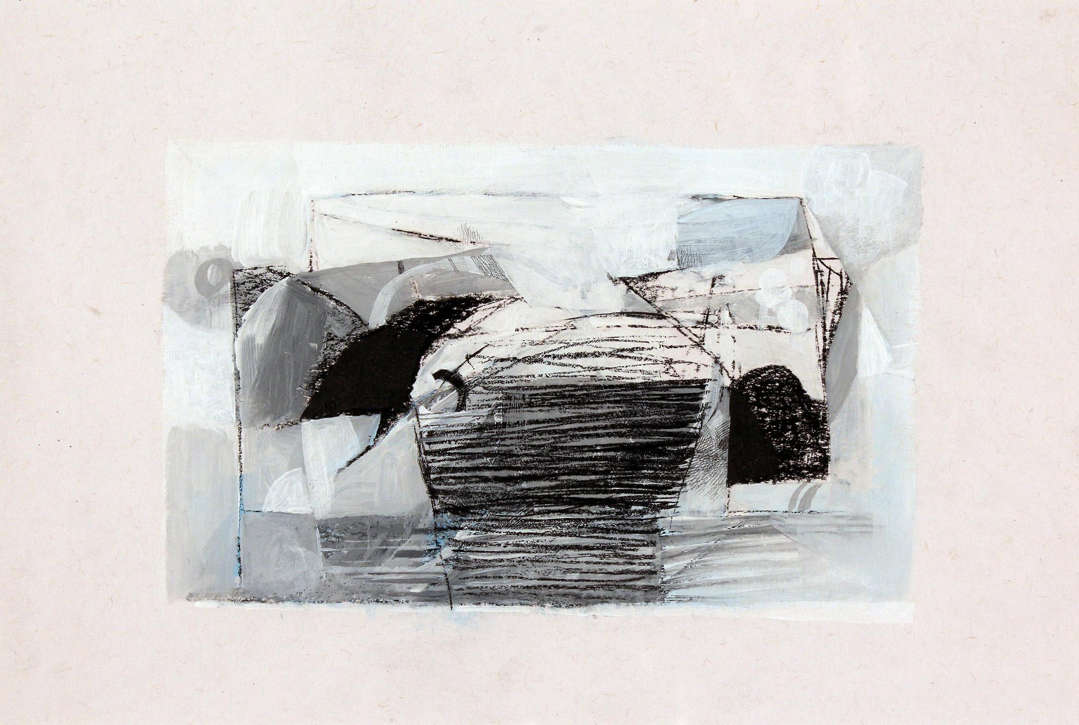 Sem título, 2015. Carvão, grafite e acrílico sobre papel, 21,4 x 29,9 cm