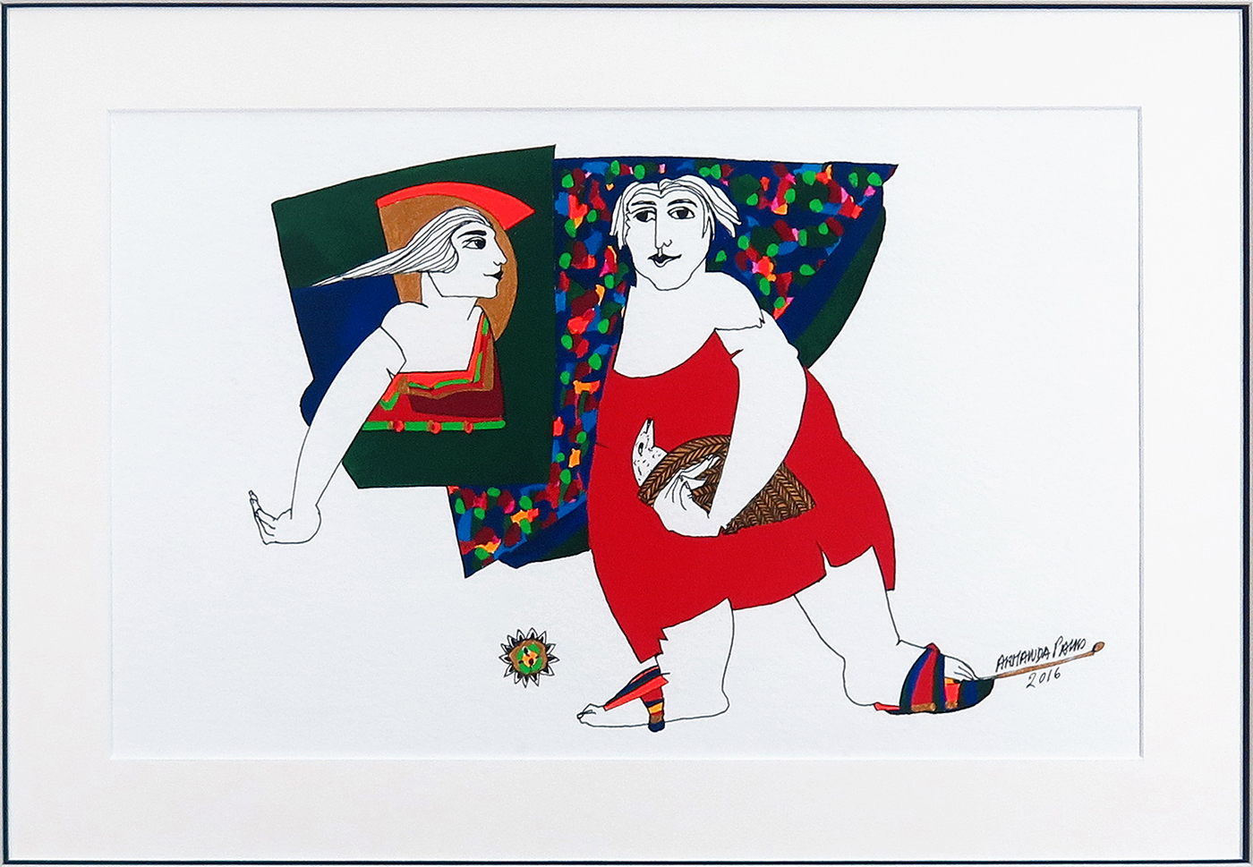 Sem título, guache sobre papel, 25,5 x 41 cm, 2016