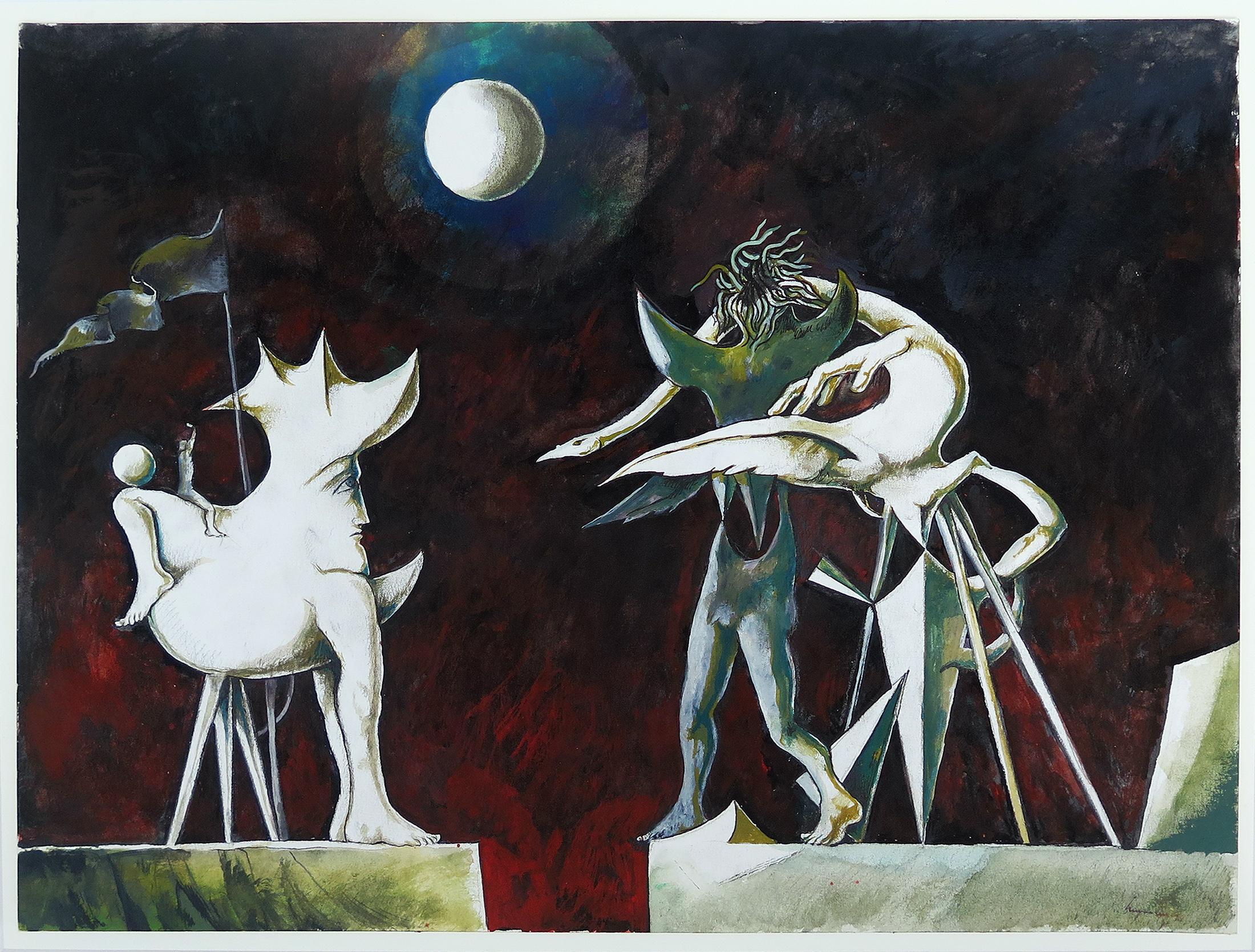 Sem título, pintura, técnica mista sobre papel, 36 x 48 cm