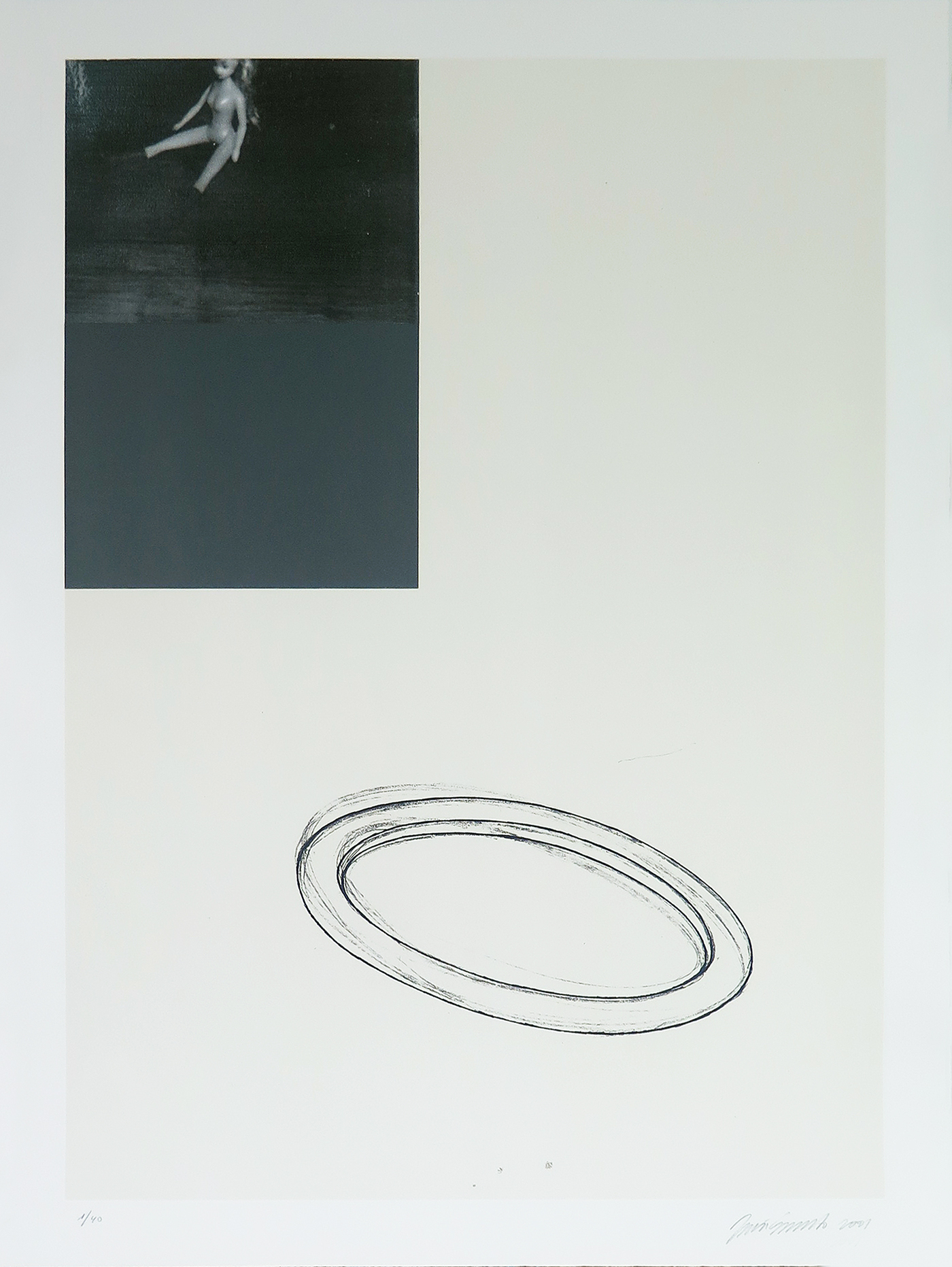Without Title-5, mixed-media on guarro paper, nº 01-40, 76 x 56 cm
