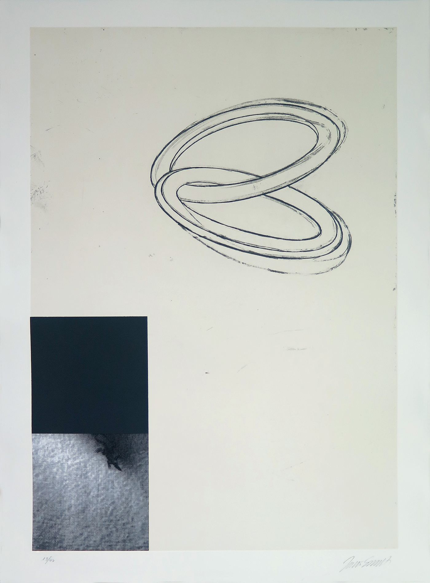 Without Title-6, mixed-media on guarro paper, nº 13-40, 76 x 56 cm