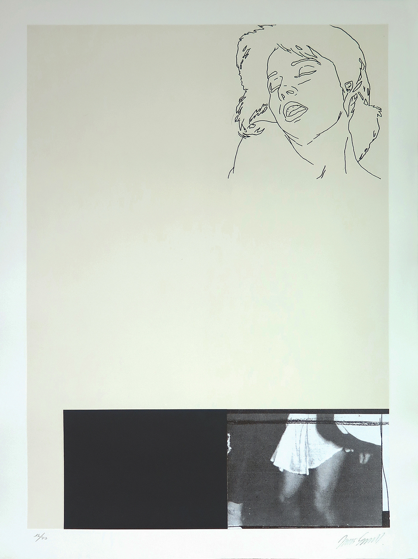 Without Title-8, mixed-media on guarro paper, nº 16-40, 76 x 56 cm