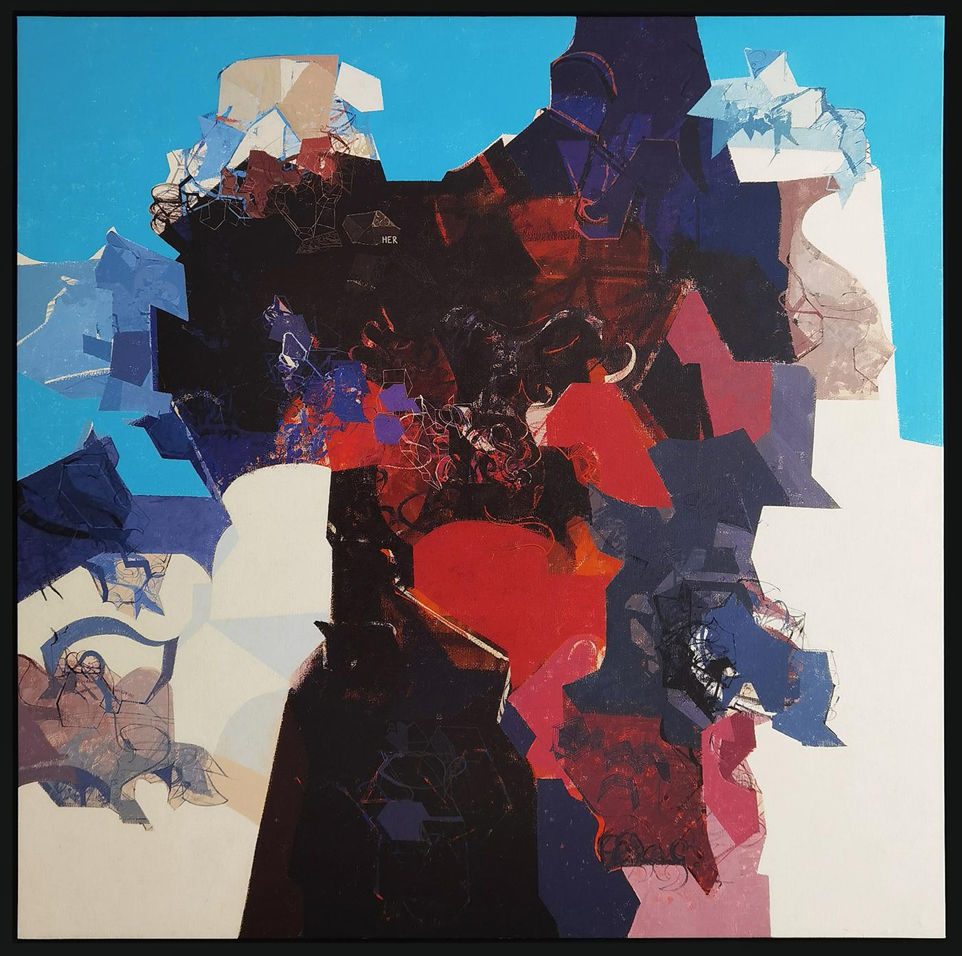 Her on Snow, acrílico sobre tela, 160 x 160 cm, 2006