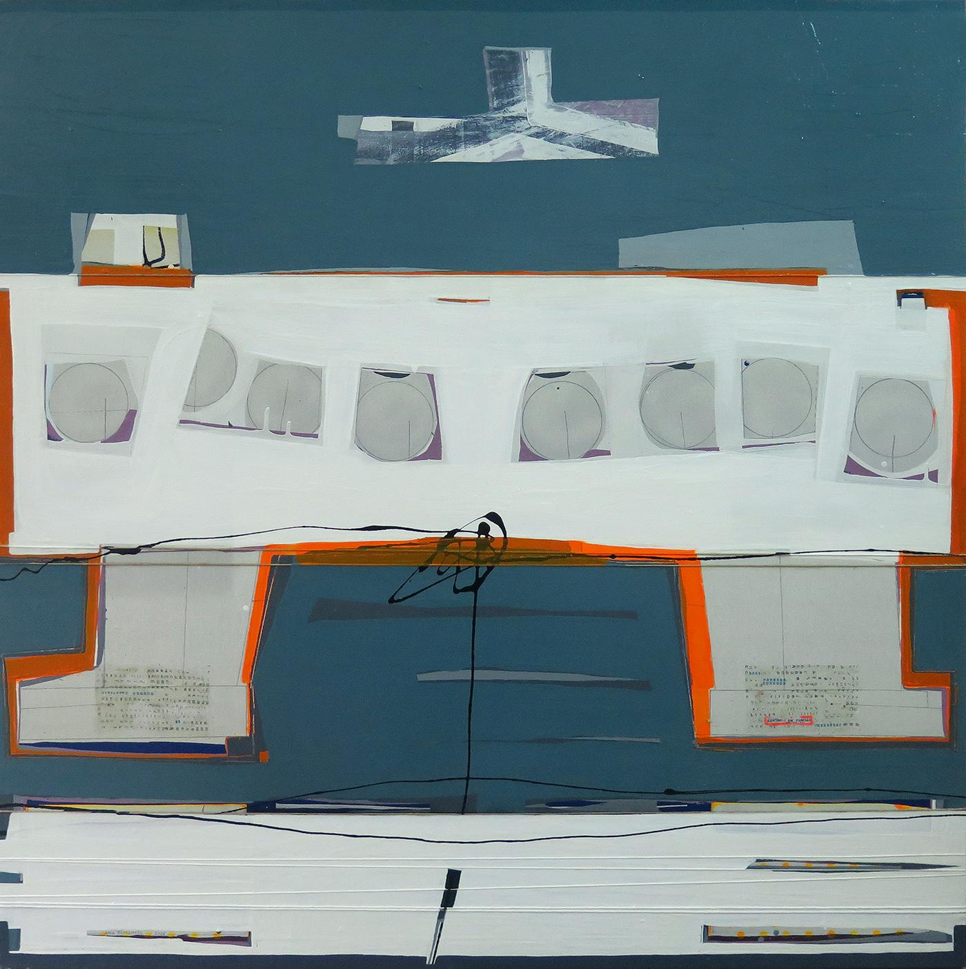 Jantar em familia, técnica mista sobre tela, 120 x 120 cm, 2006