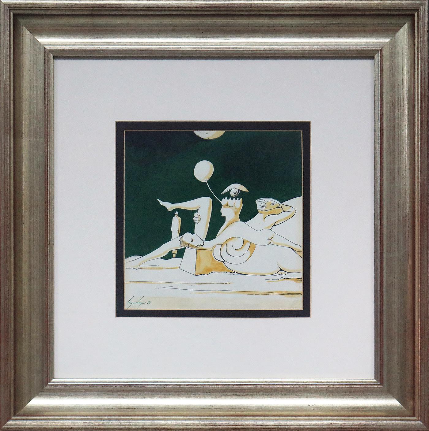 Sem título, técnica mista sobre papel, 21,5 x 21,5 cm, 1959